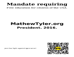 Campaign: Flyer: Education